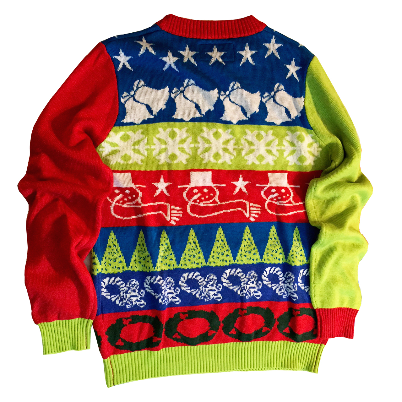 Crazy Bells Christmas Sweater - Back