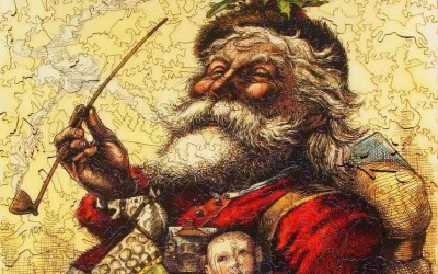 The History of Santa Claus in Pictures 1200 A.D. to 2000 A.D.