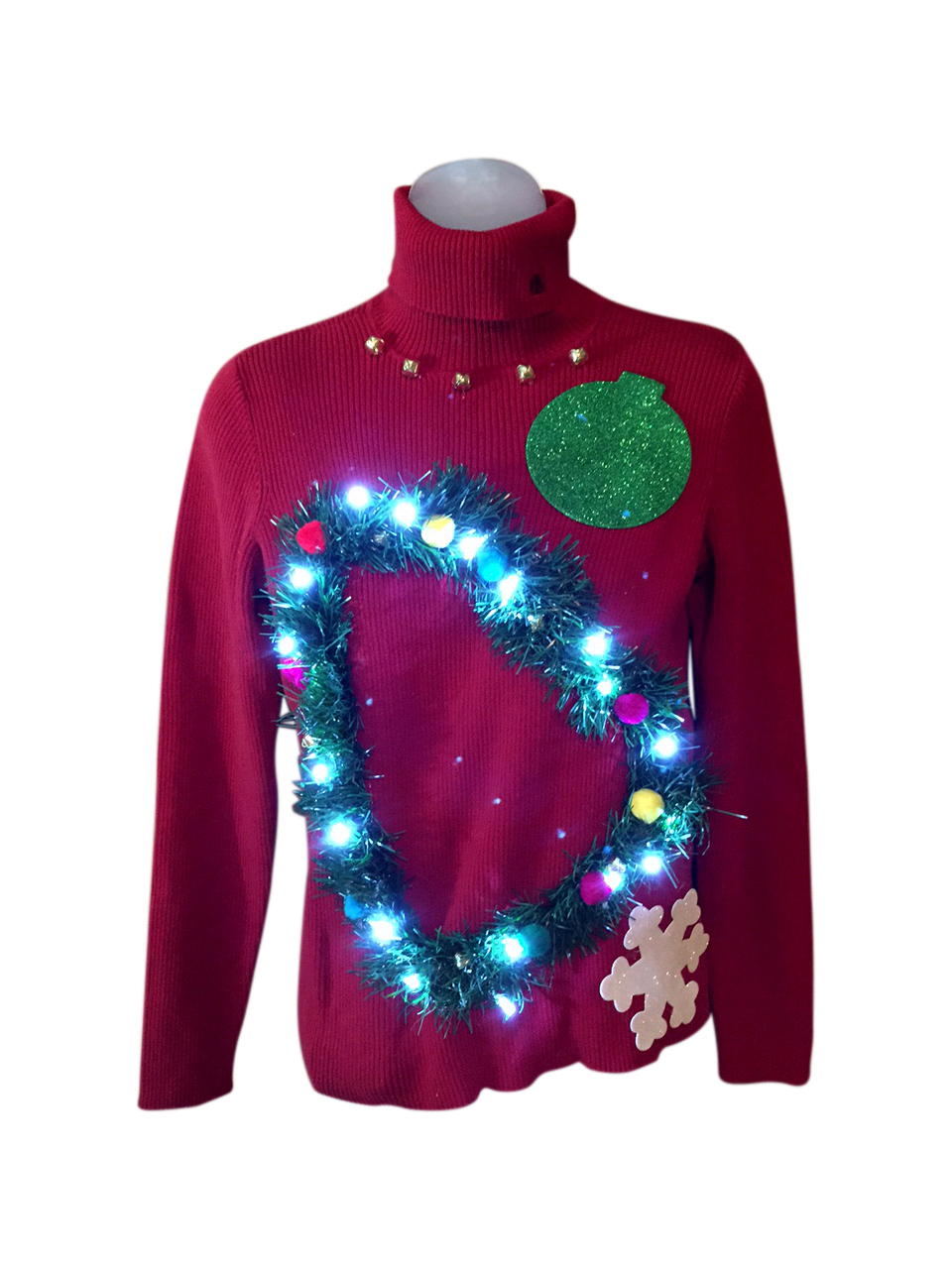 Light Up Christmas Sweater.The Light Before Christmas Turtleneck S M 30 21 Light Up Christmas Sweater