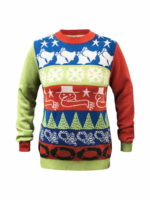 Custom Christmas Sweaters.Crazy Bells Ugly Christmas Sweater
